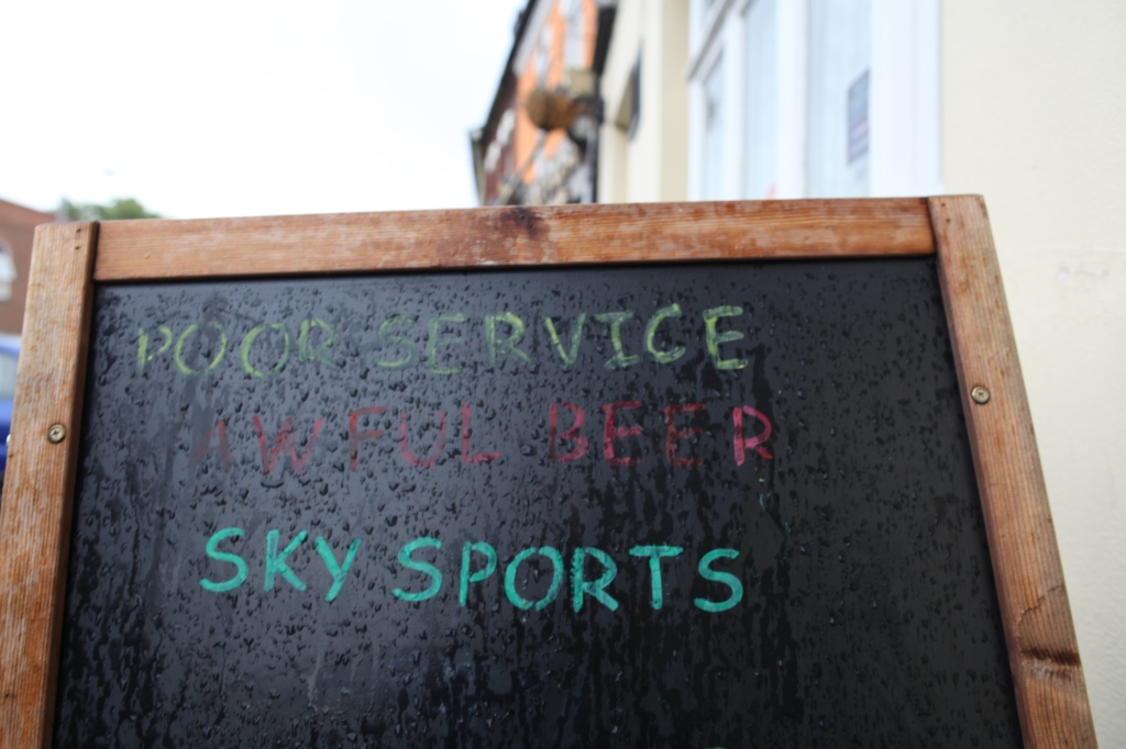 'Poor service, Awful beer, Sky sports'...what's your perfect Sunday?